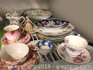 Beautiful Varied China Plates & Service Pieces