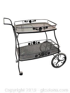 Vintage Roll Server Cart