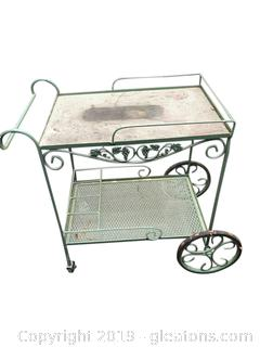 Vintage Metal Serving Cart