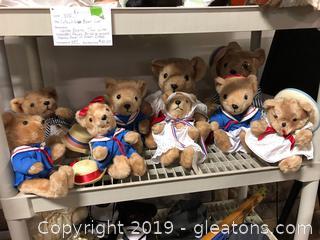 Lot Of 9 Teddy Bears