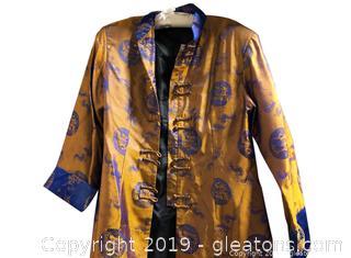 Large Silk Asian Jacket