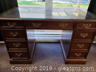 Glass Top Sligh Holland Small Desk