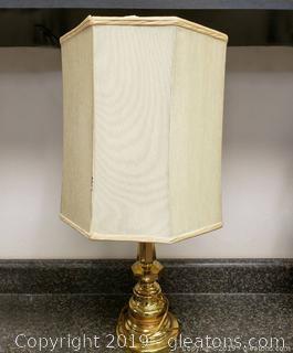 Vtg Solid Brass Lamps