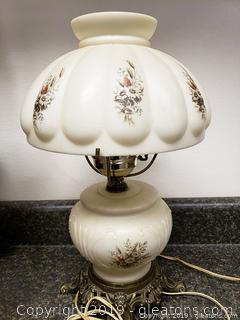 Vintage Gone With The Wind Hurricane Lamp