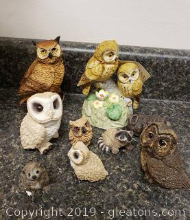 Collection Of Owls And Woodland Animals