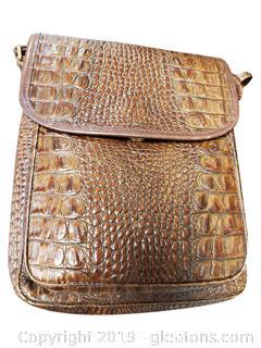 Brown Brahmin Cross Body Croc Handbag