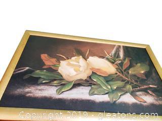 Large Gold Framed Magnolia Picture