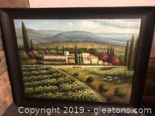 Italian Print-Grape Vines And Villas