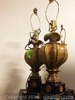 2 Beautiful Lamps With Shades