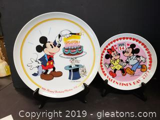 Schmid Walt Disney Happy Birthday Mickey And Valentines Day 197 Plates