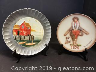 Nice Mixed Plate Lot Of Norman Rockwell And Seaboastian Plates