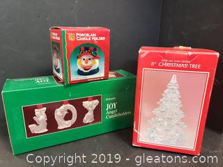 New In Box Christmas Table Decor