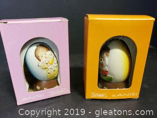 Schmid Set Of (2) 1979 + 1978 Limited Edition Eggs