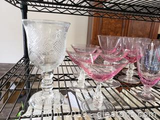 Large Valuable Collection Colored Glass Lot includes Waterford