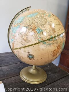 "Crams Imperial World Globe 12"" With Metal Base"