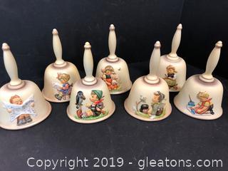 "Lot Of Goebel 7""tall Hummel Bells"