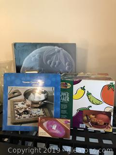 Lot of New Kitchen Appliances and ware