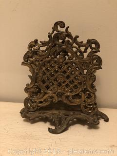 Antique Brass Letter Holder
