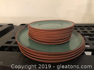 Lot of Vintage Albert Clay Plates and saucers