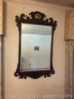 Federal Shearaton Style Mirror with Beveled Glass