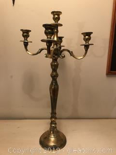 2 Foot tall LARGE BRASS CANDELABRA
