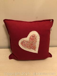 HEART PILLOW WITH DOWN INSERT