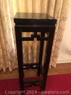 Wood Black Fretwork Plant Stand