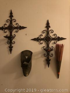 Lot of Metal and Brass  Wall hangings