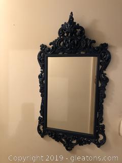 Navy Painted Vintage Mirror