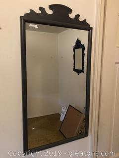 Hand Painted Gray Chippendale Mirror