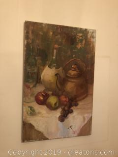 Antique Still Life Acrylic on Canvas