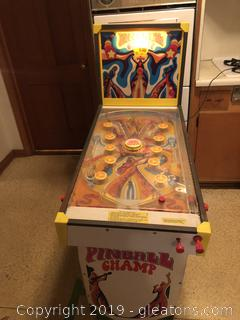 Vintage Coleco Pinball Champ Working Pinball Machine