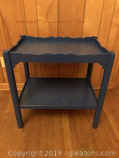 Blue Painted Mahogany Cart