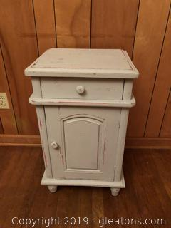 Painted Teak Wood Cabinet with drawer