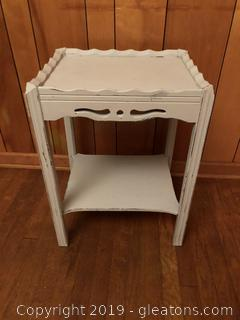 Painted Two Tiered Side Table