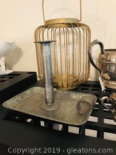Lot of Metal Decor Silverplate and more