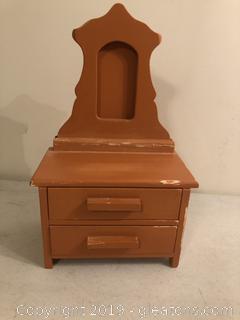 Vintage Doll Dresser or Dresser Top Jewelry Box