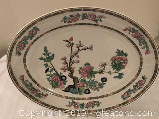 Beautiful English Dunn Bennet Ironstone Chinoserie Serving Tray