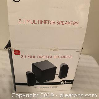 Multimedia Speakers Shelf Size