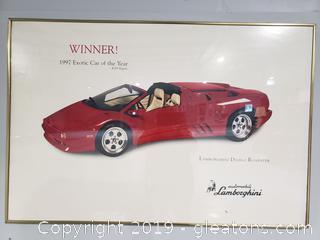 Framed Lamborghini 1997 Poster