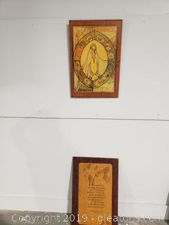 Pr of Wooden Handmade Wall Art Pieces
