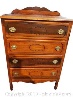 Small footed Antique Chest of Drawers