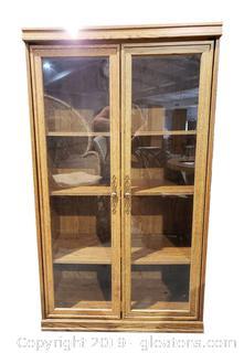 Wood Like Glass Front Door Front Book Case Shelf