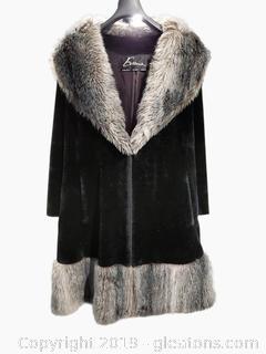 Vtg, Evans Chicago Paris Milan Dress Winter Coat