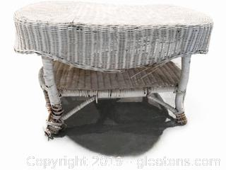 White Wicker (Coffee Table)