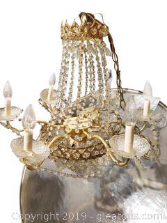 Beautiful Antique Crystal Chandelier