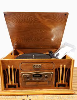 """""""Marksman"""" Retro Old Style Look Music Station/Record Player"""