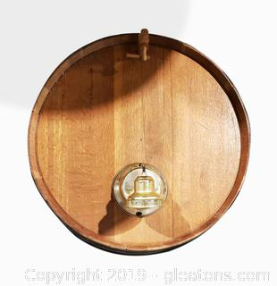 Very Unique Whiskey Barrel Wall Light Fixture