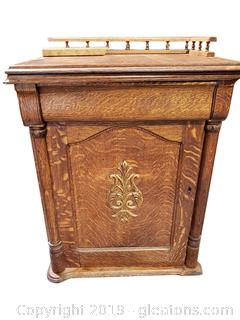 """""""New Royal A"""" Antique Sewing Machine Cabinet with Sewing Machine"""