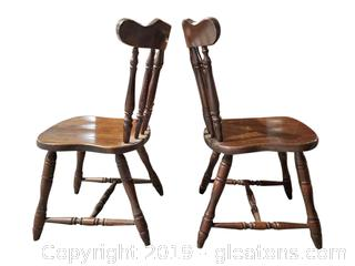 PR of Wooden Spindle Back Chairs